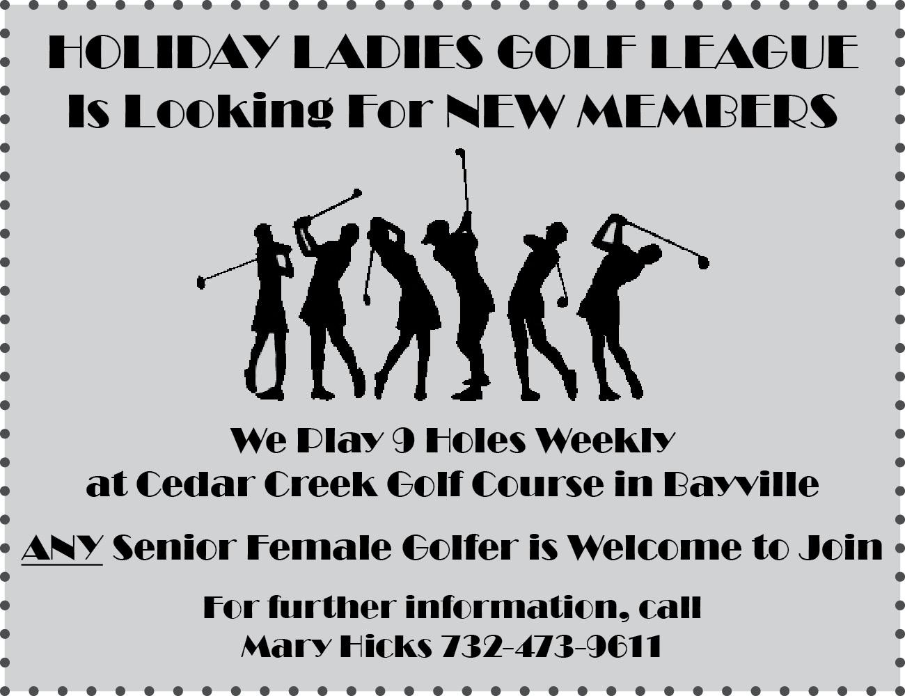 Ladies golf league